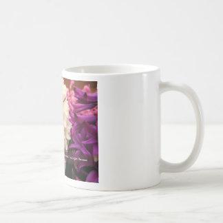 Hyacinths & Kindness Quote Basic White Mug