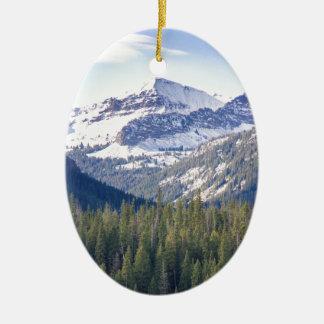 Hyalite Peaks Bozeman, Montana Christmas Ornament