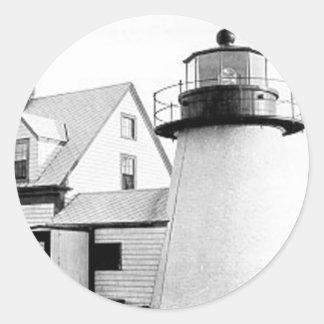 Hyannis lighthouse round sticker