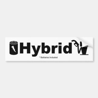 HYBRID batteries included Bumper Sticker