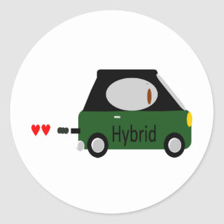 Hybrid Car Classic Round Sticker
