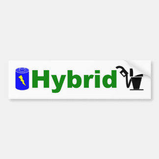 HYBRID green pump and battery Bumper Sticker