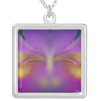 Hybrid orchid, Florida 2 Silver Plated Necklace