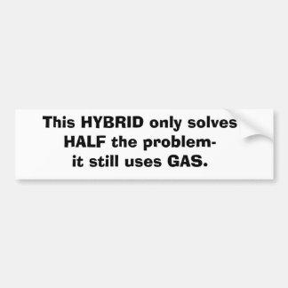 Hybrid Sticker Bumper Sticker