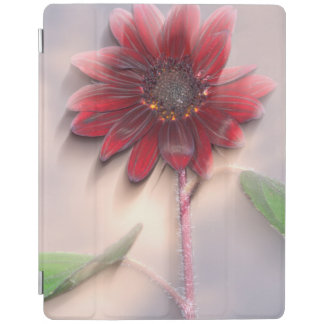 Hybrid sunflower blowing in the wind iPad cover