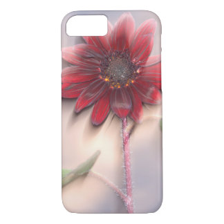 Hybrid sunflower blowing in the wind iPhone 7 case