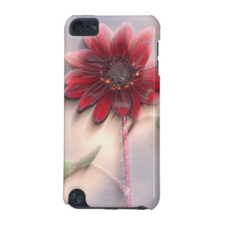 Hybrid sunflower blowing in the wind iPod touch (5th generation) covers