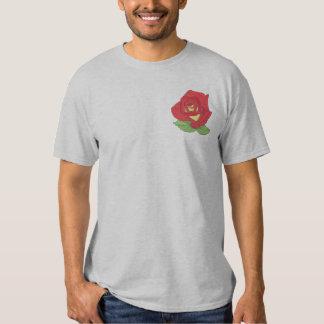 Hybrid Tea- Forty Niner Rose Embroidered T-Shirt