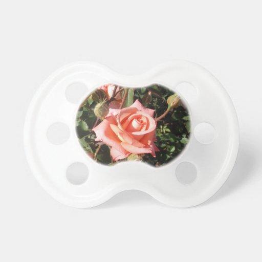 Hybrid Tea Rose Baby Pacifiers