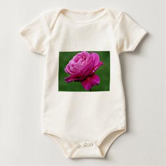 Hybrid Tea Rose 'Heirloom' White flowers Baby Bodysuit