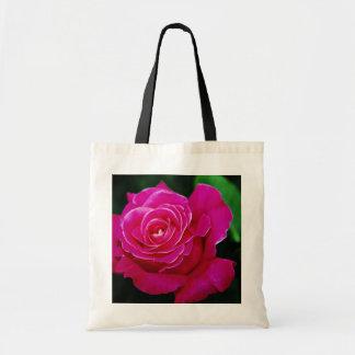 Hybrid Tea Rose 'Pink Peace' Yellow flowers Budget Tote Bag
