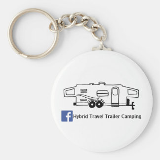 Hybrid Travel Trailer Camping Keychain