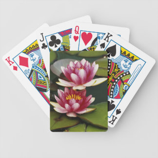 Hybrid water lilies bicycle playing cards