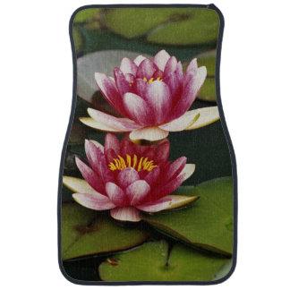 Hybrid water lilies car mat