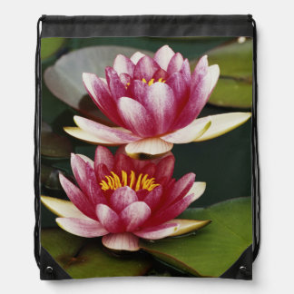 Hybrid water lilies drawstring bag