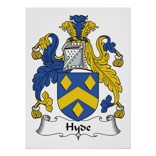 Hyde Family Crest Poster