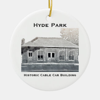 Hyde Park's Historic Cable Car Ornament