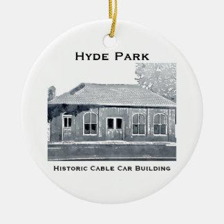 Hyde Park's Historic Cable Car Ornament