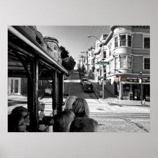 HYDE ST CABLE CAR - SAN FRANCISCO PRINT