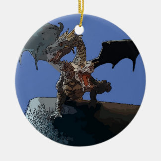 Hydra Dragon Round Ceramic Decoration