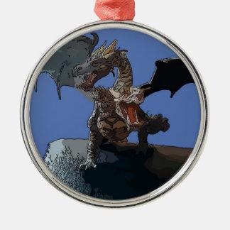 Hydra Dragon Silver-Colored Round Decoration