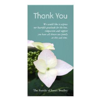 Hydrangea #1 Custom Sympathy Thank You Photo Card