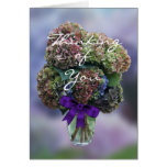 Hydrangea 2385 in Vase- customise any occasion Greeting Card