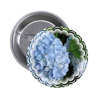 hydrangea-34 6 cm round badge