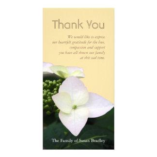 Hydrangea #4 Custom Sympathy Thank You Photo Card