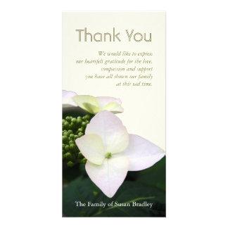 Hydrangea #6 Custom Sympathy Thank You Photo Card