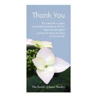 Hydrangea #7 Custom Sympathy Thank You Photo Card