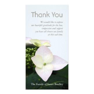 Hydrangea #9 Custom Sympathy Thank You Photo Card