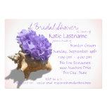 Hydrangea and Seashell Bridal Shower Lavender Card