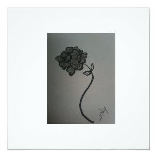 Hydrangea blank greeting card/invite 1 13 cm x 13 cm square invitation card