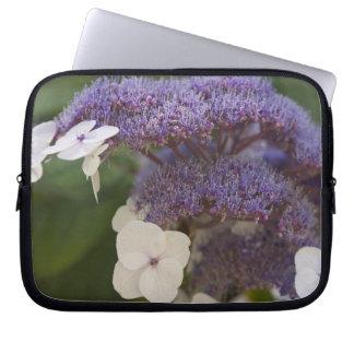 Hydrangea bloom, Dr. Sun Yat-Sen Chinese garden Laptop Sleeve