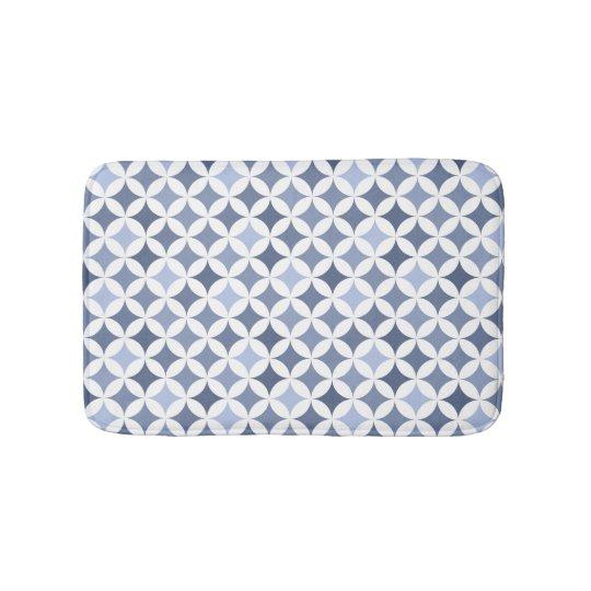 Hydrangea Blue Geometric Hypocycloid Pattern Bath Mat