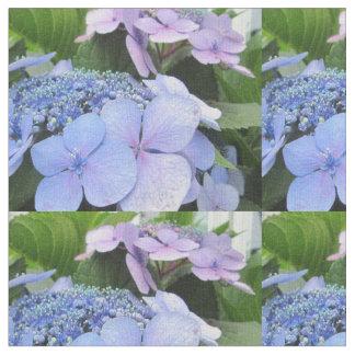 Hydrangea Blue Purple Pretty Flower Fabric