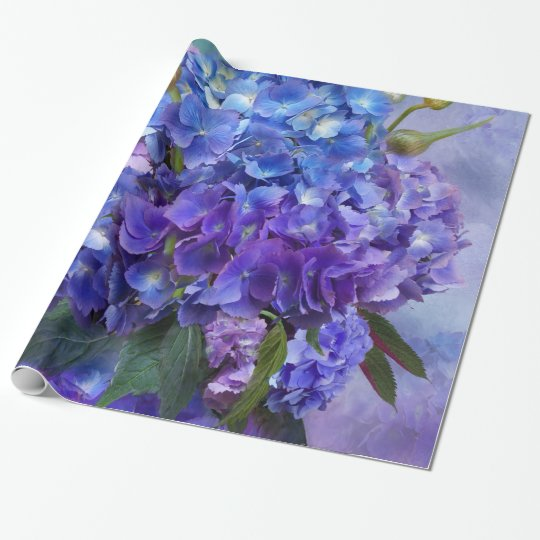 Hydrangea Bouquet Art Gift Wrap Wrapping Paper