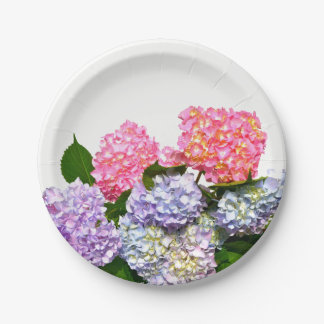 Hydrangea Bouquet Paper Plate
