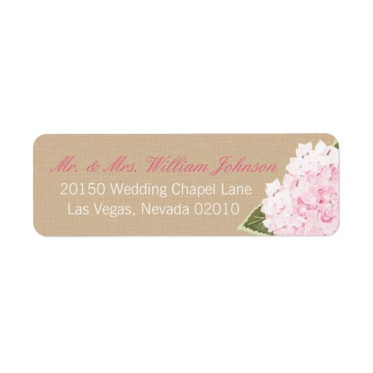 Hydrangea Bouquet Wedding Label