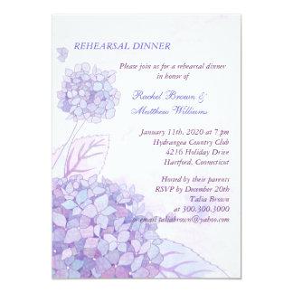 Hydrangea Bouquet Wedding Rehearsal Dinner 13 Cm X 18 Cm Invitation Card