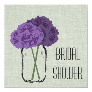 Hydrangea Bridal Shower 5.25x5.25 Square Paper Invitation Card
