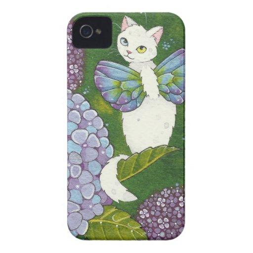 Hydrangea Floral Cat Fairy iPhone Case Moussart iPhone 4 Case-Mate Cases