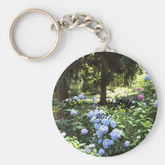 Hydrangea Floral Trees Nature Photography Key Ring