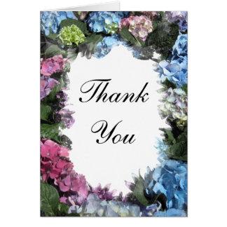 Hydrangea Flower Frame Thank You Card