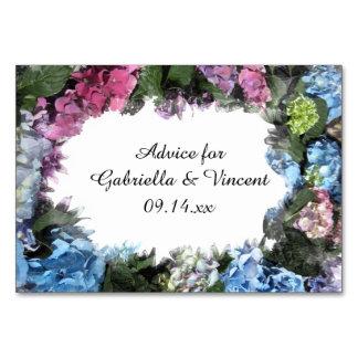 Hydrangea Flower Frame Wedding Advice Cards