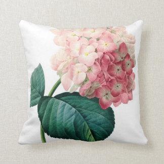 Hydrangea flower illustration Redoute Cushion