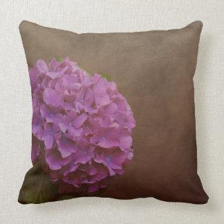 Hydrangea flower with artistic textured background cushion