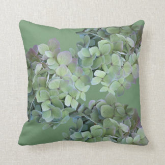Hydrangea Flowers Pink and Blue Throw Pillow