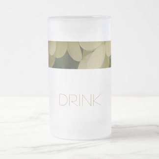 Hydrangea Frosted Glass Beer Mug